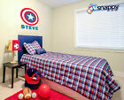 Personalized Captain America Vinyl Wall Decal Decor (Removable and Replaceable)
