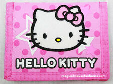 HELLO KITTY SANRIO Tri Fold Pink Wallet Money Travel #E