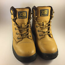 Karrimor Tan Leather Steel Toe Cap Work Safety Boots, High Tops UK Size 6 (39.5)