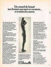 PUBLICITE ADVERTISING 074  1973  SILHOUETTE   entretien du corps