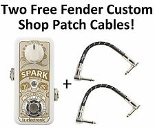 New TC Electronic Spark Mini Booster Guitar Effects Pedal! Fender Cables!!