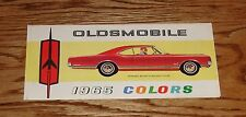 Original 1965 Oldsmobile Colors Brochure 65 Cutlass Starfire Jetstar