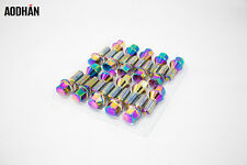 20PC 14 X 1.5 Aodhan LUG BOLT Neo Chrome WHEELS LOCKS BOLTS FIT Audi volkswagen