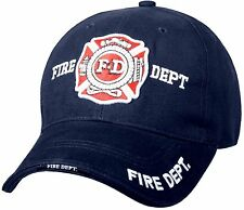 Fire Department - Navy Blue - Deluxe low Profile Baseball Cap