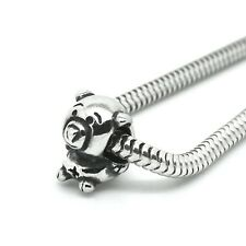 PIG - Piggy- Animal - Solid 925 sterling silver European charm bead