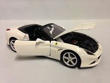 Ferrari California T,Race Play,Collectible, Diecast Model Car 1:24, Burago,White