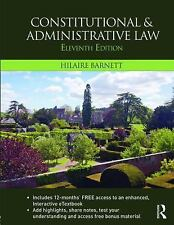 Constitutional and Administrative Law by Hilaire Barnett (2015, Mixed Media /...