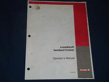 CASE CRUMBLER SEEDBED FINISHER OPERATION & MAINTENANCE BOOK MANUAL
