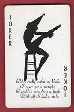 1 Single Swap Playing Card JOKER #N12 PINUP GIRL SILHOUETTE SEXY LADY VINTAGE