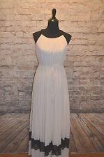 Modcloth Vanilla Truffle Dress Maxi NWT Sz S fits M black & vanilla pleated $100