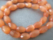 Orange Cat's Eye Faceted Tube Beads 40pcs