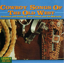 "ALAN LOMAX & ED McCURDY, CD ""COWBOY SONGS OF THE OLD WEST"" NEW SEALED"