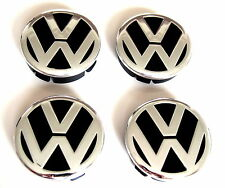 4 x 60 mm VW Alloy Wheel Center Hub Caps METAL Logo