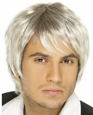 New Male Blonde / Silver Idol Popstar Boy Band Wig Schoolboy Fancy Dress P2565