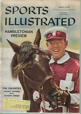 1957 SPORTS ILLUSTRATED HAMLETONIAN JOHNNY SIMPSON TY COBB WATER SKIING RACCOON