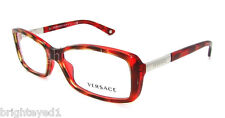 Authentic VERSACE Red Tortoise Rx Eyeglass Frame VE 3140 - 880 *NEW*