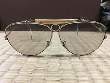 Vintage B&L Ray Ban USA  70's Aviator Shooter 1/30 10K GO Gray Changeable  62mm