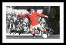 GEORGE BEST - MANCHESTER UNITED AUTOGRAPHED SIGNED & FRAMED PP POSTER PHOTO