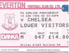 Football Ticket Stub - Everton v Chelsea  - Premiership - 1996