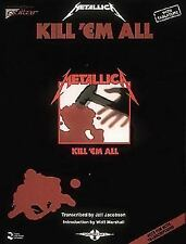 Metallica: Kill 'Em All (1990, Paperback) Songbook Vocal & Guitar Tablature