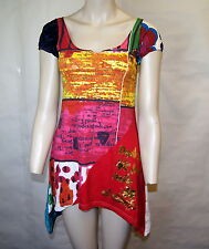"Brand new Elegant & Stylish Desigual motif Multi ""Never Hasta""  size ""S"""