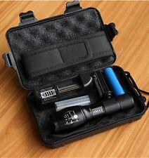 LED flashlight Tactical Flashlight 8000 Lumens CREE XM-L2 Zoomable 5 Modes al...