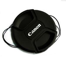 52mm Center Pinch Snap On Front Lens Cap Cover W / String For Canon Nikon Pentex