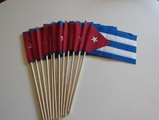 Lot of -12- 4x6 Inch Cuba Cuban Flags Desk Hand Held Stick Flags US MADE