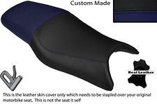 NAVY BLUE & BLACK CUSTOM FITS HONDA CBR 600 F 97-98 DUAL LEATHER SEAT COVER