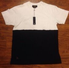 10 DEEP 2 TONE BLOCK TEE IN 2XL BLACK AND WHITE!!!