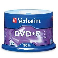 Verbatim 4.7GB up to16x Branded Recordable Disc DVD+R - 50 Disc Spindle 95037