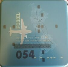 Collectible  FOSSIL TIN  * Airplane Flight/ Destination America*  2006
