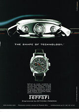 PUBLICITE ADVERTISING 094  2008  FERRARI  collection montre DP XII chrono