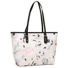 ♥ COACH Wildflower Large Zip Tote Chalk/Multi F37266