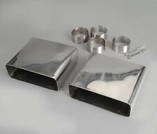 1985-1991 Corvette Exhaust Tips - Rectangular - Stainless Steel