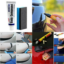 Car SUV Body Scratch Fix Removal Kit Repair Painting Applicator Pen + Abrasives