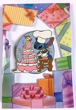 Disney Auctions Stitch Cake Birthday Card and Pin Set LE 1000