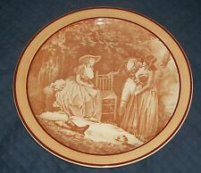 1949 ROYAL DOULTON LADIES GENTLEMEN COUNTRY SIDE PICNIC 18thC GENTRY SEPIA PLATE