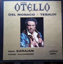 KARAJAN  VERDI otello MARIO DEL MONACO, TEBALDI - 3xLPs box