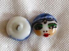 100% handmade lampwork paperweight shape glass button boy face