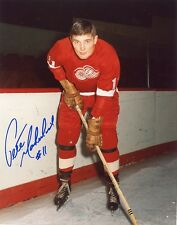 "PETE MAHOVLICH DETROIT RED WINGS SIGNED 8""x10"" PHOTO w/ COA"