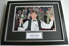 Stephen Hendry SIGNED FRAMED Photo Autograph 16x12 display Snooker AFTAL & COA
