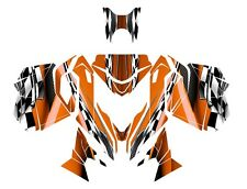 2013 2014 2015 Ski Doo REV XM Summit graphics custom wrap deco kit #2300 Orange