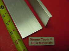 "2 Pieces 1/4"" X 2"" ALUMINUM 6061 FLAT BAR 16"" long T6511 .250"" Plate Mill Stock"