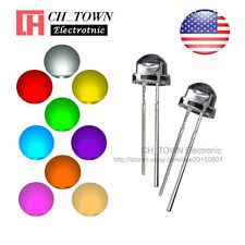 9 Lights 180pcs 5mm LED Diodes Straw Hat White Red Green Blue Yellow Mix Kits