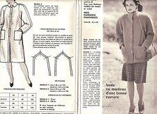 PATRON DE COUTURE Veste ou manteau d'une bonne carrure  taille 42 à 46