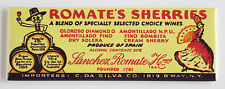 Romate's Sherries FRIDGE MAGNET (1.5 x 4.5 inches) wine sign sherry