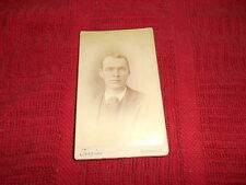 CABINET PHOTO - MAN - TEEPLE'S DRY PLATE PROCESS - WOOSTER, OHIO