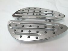 CHROME FRONT BILLET FOOT BOARD FLOORBOARDS HARLEY TOURING &FL SOFTAIL 80-13