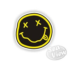 Nirvana Smiley Face Funny Fun Humour Music Car Van Stickers Decal Bumper Sticker